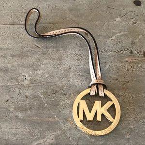 ♥️ Michael Kors ♥️ Gold & Tan Leather Keychain